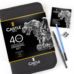 40 Piece Drawing and Sketching Pencil Art Set in Zip Up Case