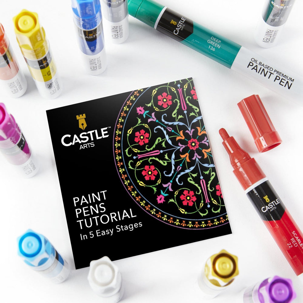12 Piece Multi-Surface Oil Based Paint Pens Set