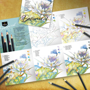 24 Piece Botanical Coloured Pencil Set in Display Tin