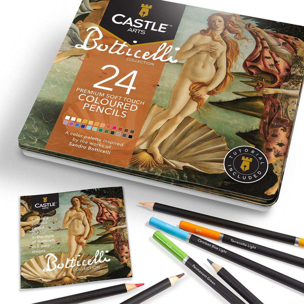 24 Piece Botticelli Coloured Pencil Set in Display Tin