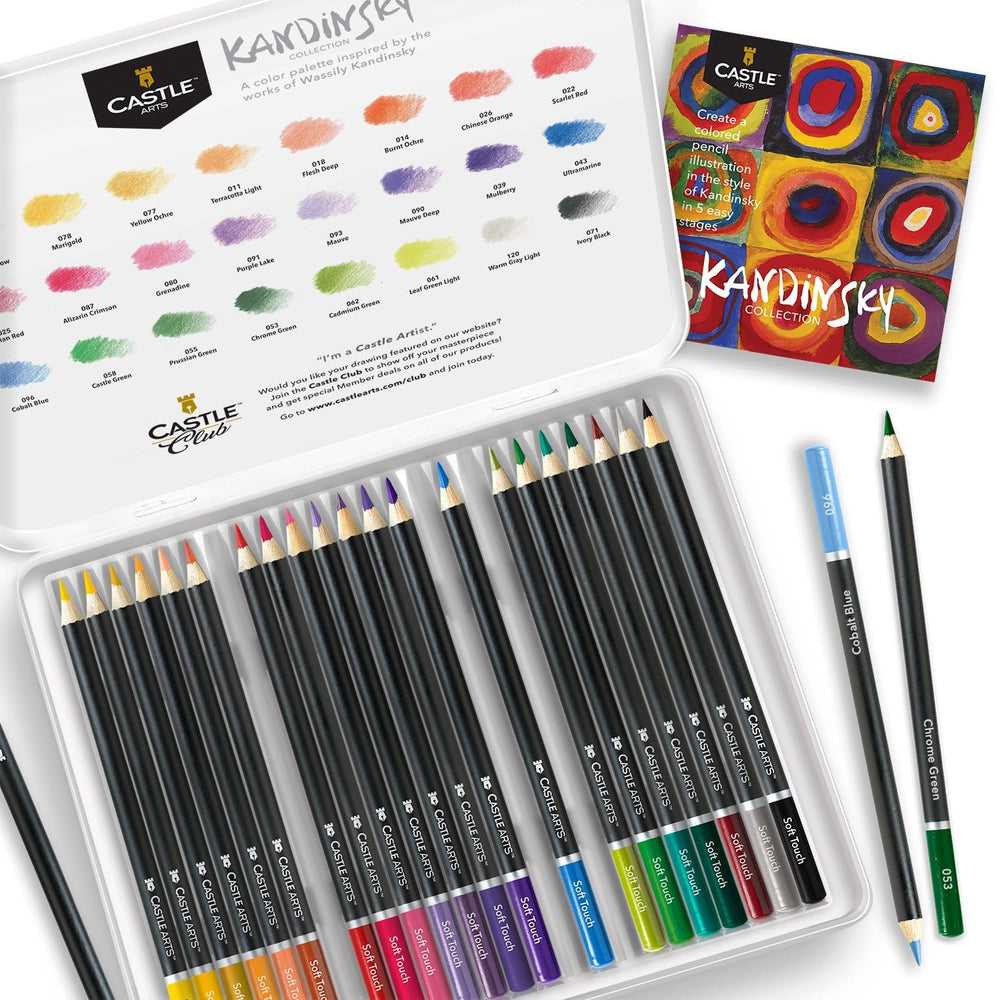 24 Piece Kandinsky Coloured Pencil Set in Display Tin