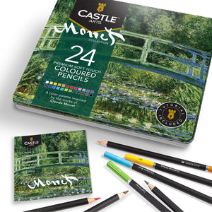 Load image into Gallery viewer, 24 Piece Monet Coloured Pencil Set in Display Tin
