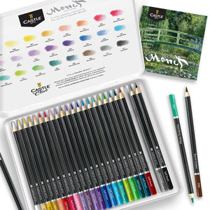 24 Piece Monet Coloured Pencil Set in Display Tin