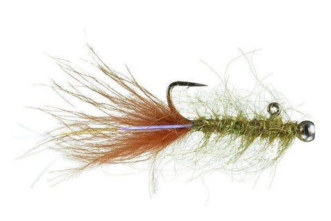 Olive/Burnt Orange Balanced Leech 10