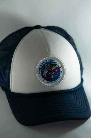 Fins & Feathers Out There Foam Trucker - Navy