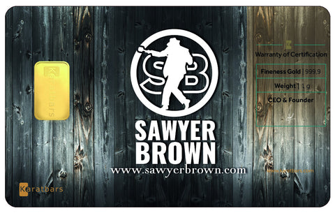 Autographed Sawyer Brown Karatbars Gold Collector Card