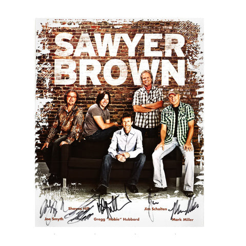 Autographed Sawyer Brown 2014 8x10 Photo
