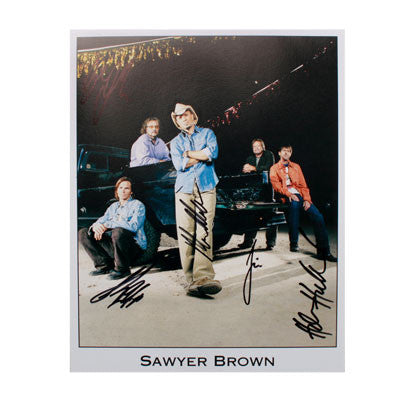 Autographed Sawyer Brown 2011 8x10 photo
