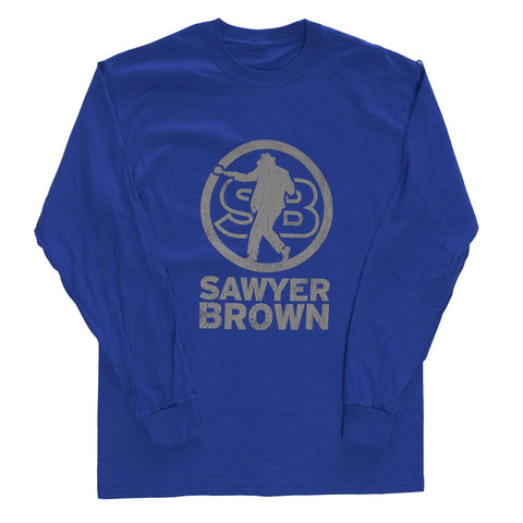 Royal Blue SB Logo Long Sleeve T-shirt
