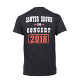 Sawyer Brown 2018 Concert T-Shirt - Black