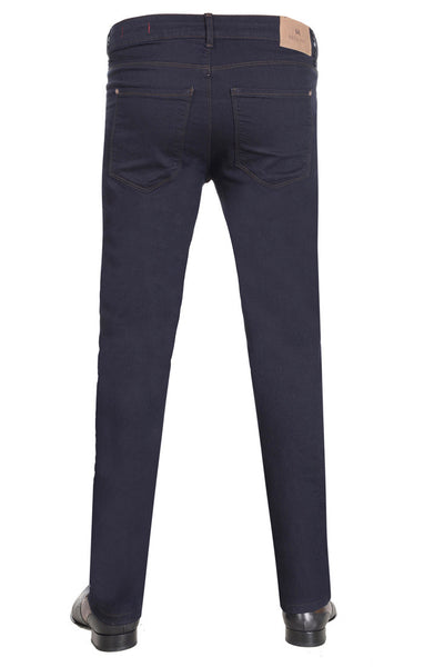 Navy Tonal Stitched Sleek Denim