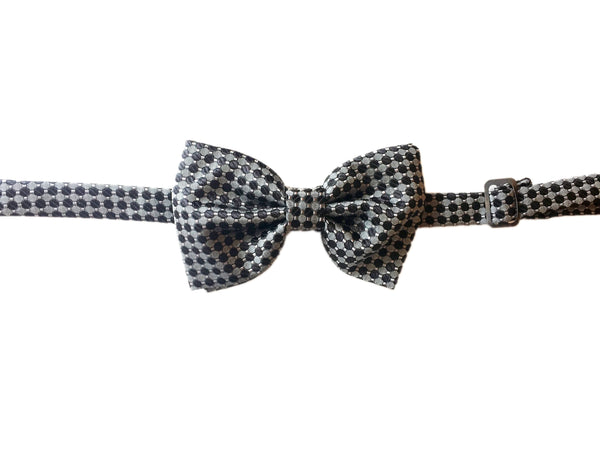 Printed Bowtie- Grey/Black