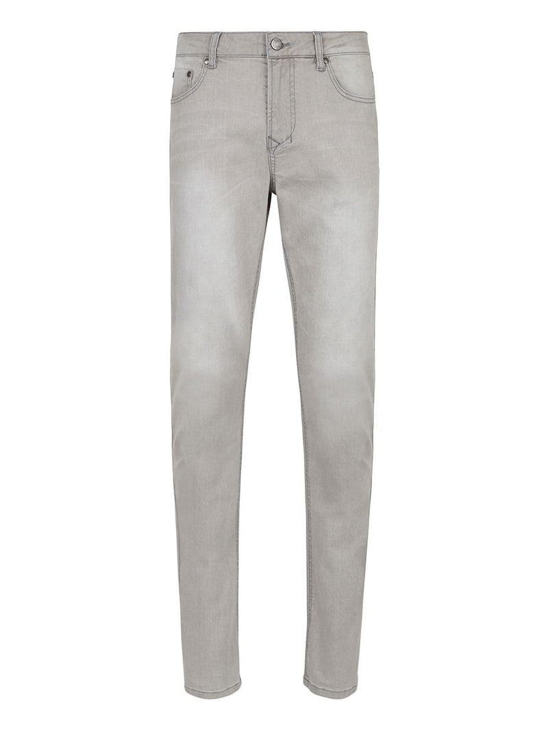 Solid Slim Fit Stretch Denim- Grey