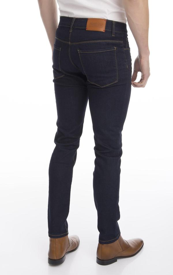 Solid Tapered Denim- Dark Blue