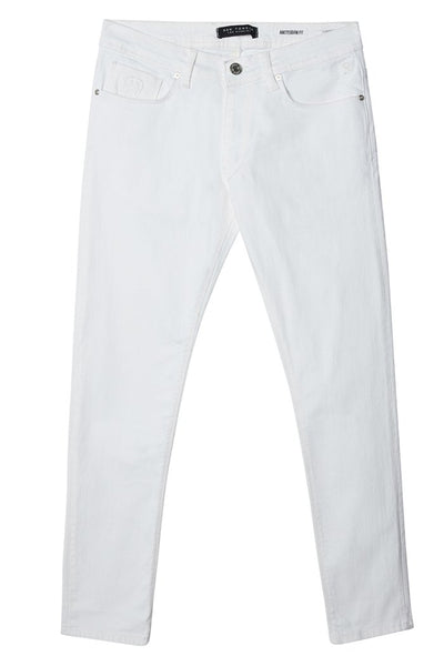 Straight Fit Relaxed Denim- White