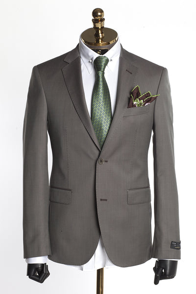 Merino Wool Suit - Stone