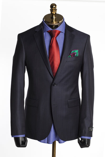 Merino Wool Tonal 2 Piece Suit - Black