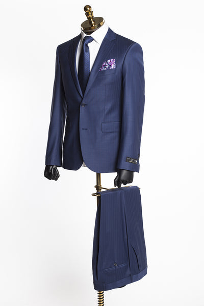 Merino Wool 2 Piece Suit - Navy