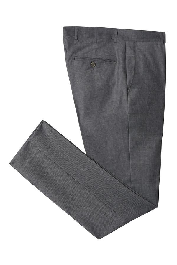 Merino Wool Tapered Dress Pants- Charcoal