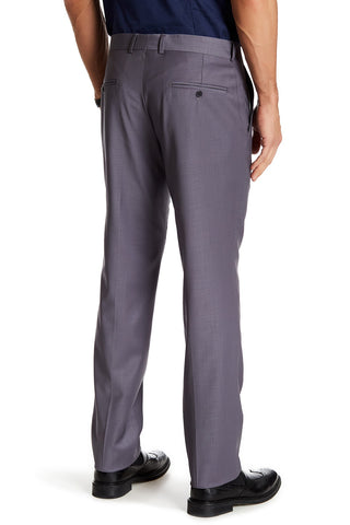 Merino Wool Trousers-Lilac Grey