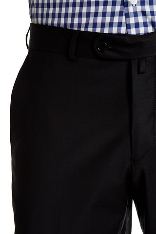 Merino Wool Trousers- Black