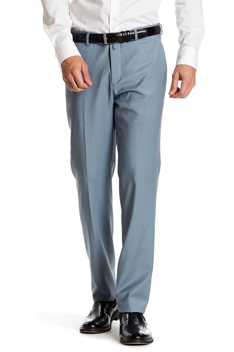 Merino Wool Trousers- Sky Blue