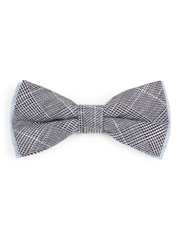 Printed Cotton Bowtie - Navy