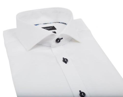 Modern Fit | Solid Long Sleeve Shirt- White