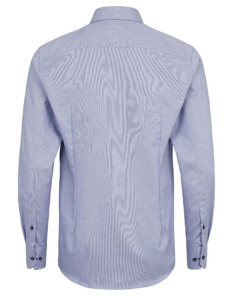 Modern Fit | Woven Long Sleeve Shirt- Blue