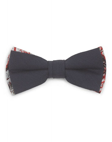 Contrast Cotton Bow Tie- Navy