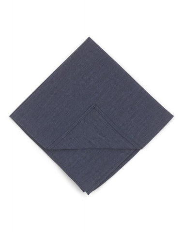Textured Cotton Pocket Square- Navy