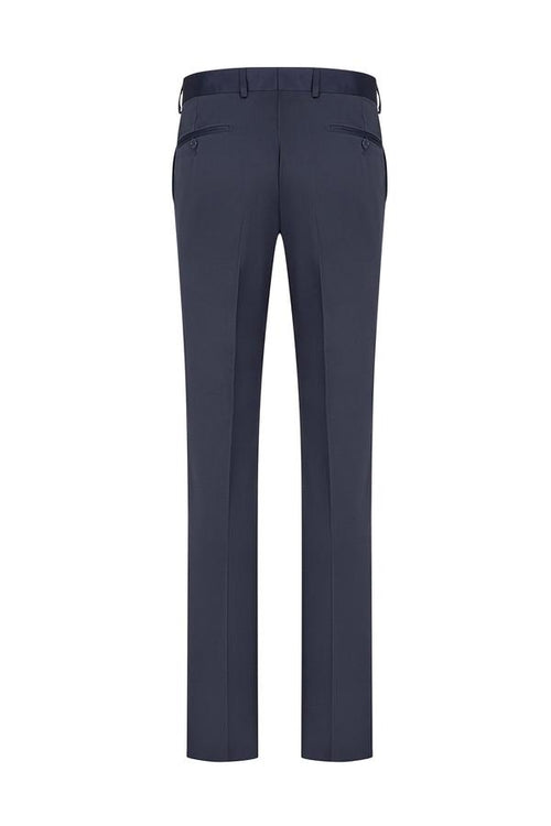 Solid Tuxedo Dress Pants- Navy
