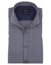 Modern Fit | Micro Check Long Sleeve Shirt- Blue