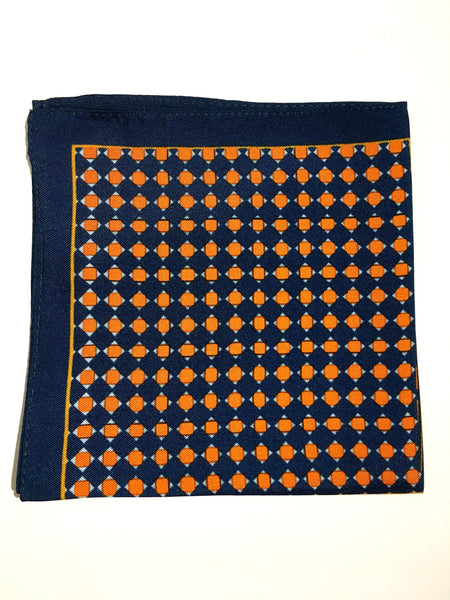 Multi Geometric Print Silk Pocket Square
