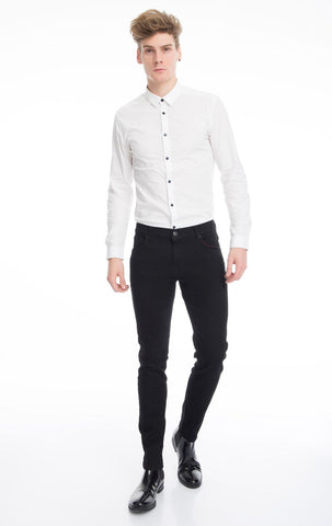 Super Stretch Slim Fit Jeans- Black