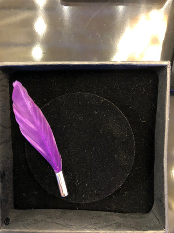 Feather Lapel Pin - Pink