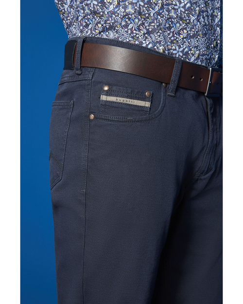 Bugatti | 5 Pocket Cotton Trousers- Blue