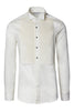 Diagonal Pleated Wing Tip Collar Shirt - Off White