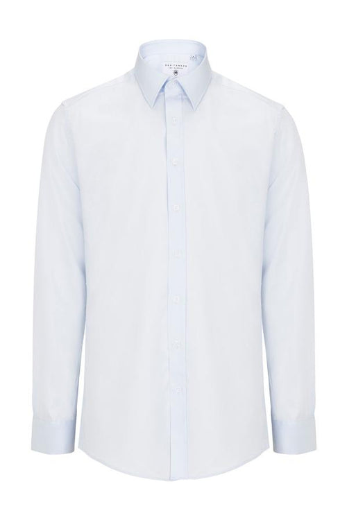 Italian Collar Dress Shirt- Light Blue