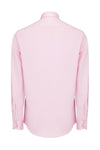 Italian Collar Long Sleeve Dress Shirt- Pink