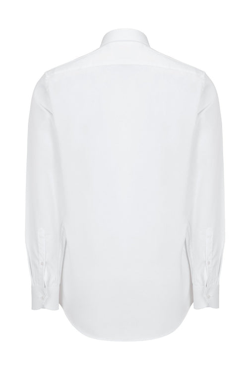 Italian Collar Dress Shirt - White