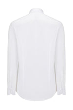 Hidden Placket Shirt- White