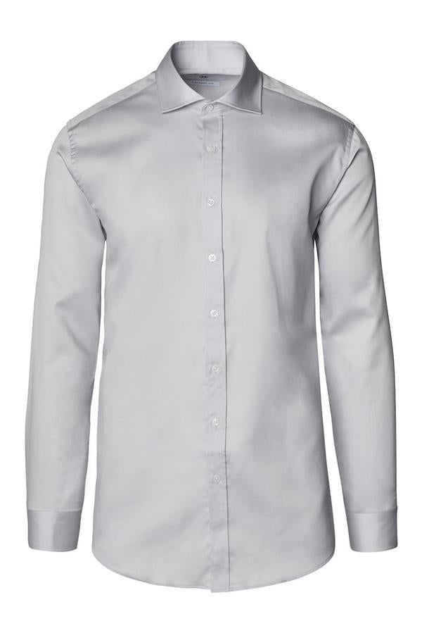 Spread Collar Dress Shirt- Grey
