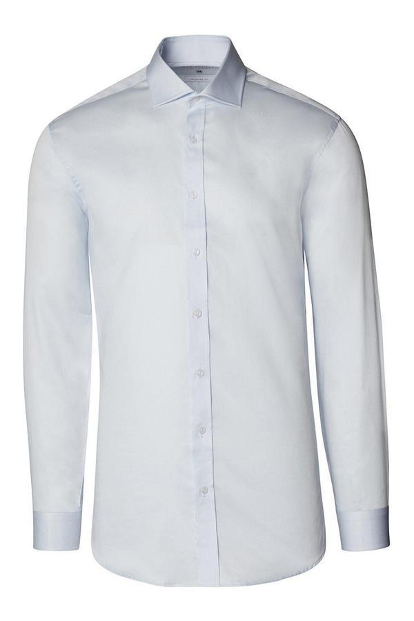 Spread Collar Dress Shirt- Light Blue
