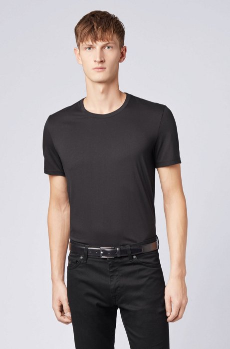 HUGO BOSS | Soft Cotton Jersey Crewneck T-Shirt- Black