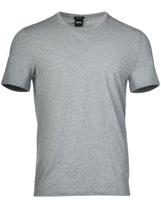 HUGO BOSS | Soft Cotton Jersey Crewneck T-Shirt- Medium Grey