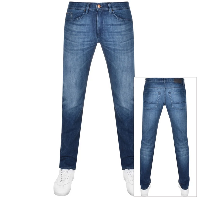 HUGO BOSS | Straight Leg Denim- Medium Blue