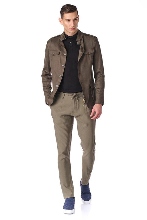 Soft Safari Jacket- Khaki