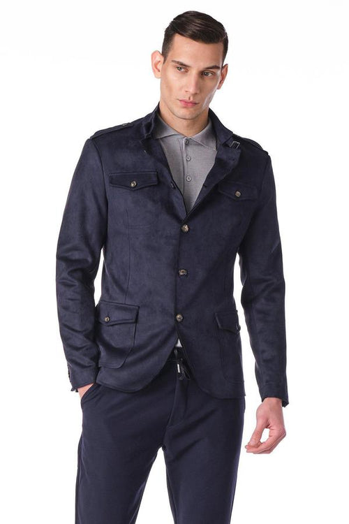 Soft Safari Jacket- Navy