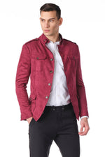 Soft Safari Jacket- Wine
